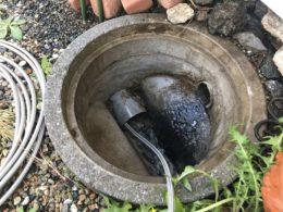 汚水桝 洗浄